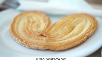 elephant ear pastry, palmier - video of Puff elephant ear...