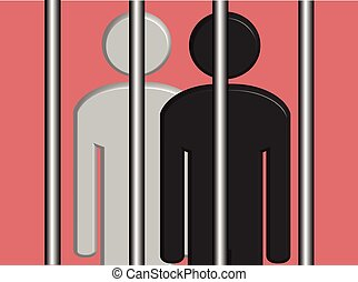 Black and White Prisoners - An illustration of Black and...