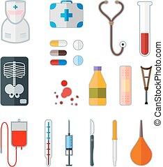 medical flat icon - Set of medical flat icon