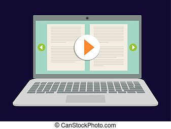 Online education and eLearning graphic design, vector...