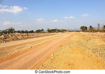 high way construction at Mae Sot special economic area of...