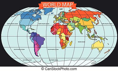 World map infographic template All countries are selectable