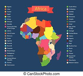 World map infographic template Countries of Africa