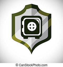 Insurance and security business graphic design, vector...