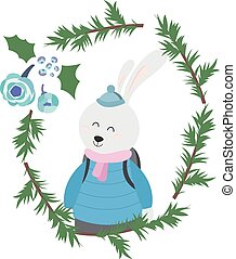 Bunny in Winter Clothes