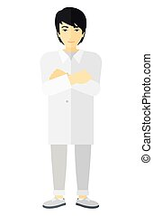 Male laboratory assistant - An asian male laboratory...