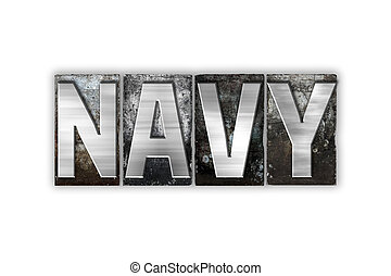 Navy Concept Isolated Metal Letterpress Type