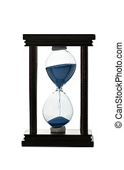 hourglass isolated on a white...