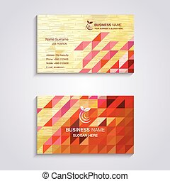 Abstract wooden business card template
