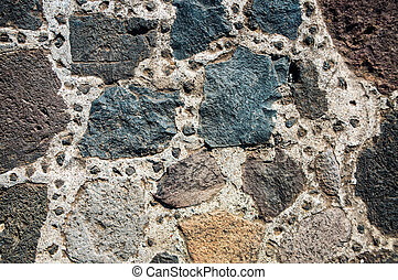 Architectural background - stoned wall of Teotihuacan...