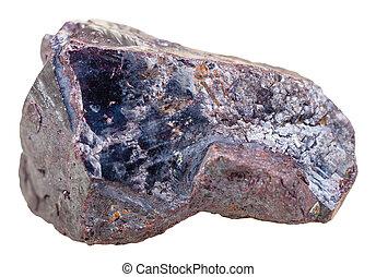 Cuprite mineral stone - copper ore isolated