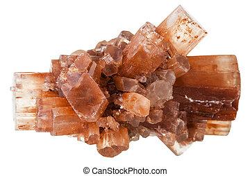 piedra,  aragonite,  mineral, blanco, aislado