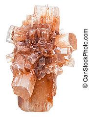 Cristales, de, aragonite, mineral, piedra, aislado,