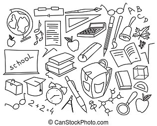 Doodle vector set of learning