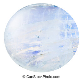 tumbled moonstone natural mineral gem stone isolated on...