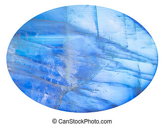 cabochon from blue moonstone (adularia) gem - cabochon from...