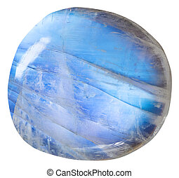 tumbled blue moonstone adularia mineral gem - tumbled blue...