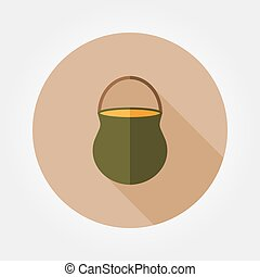 Camp pot icon. - Camp pot. Icon for web and mobile...