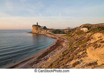 Secluded Costa Blanca bay - Early morning view of a secluded...