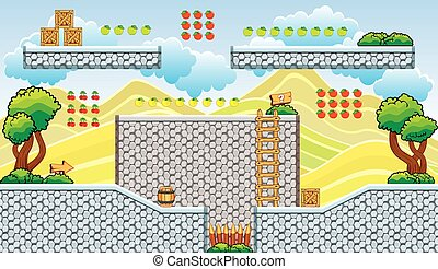 platform game tileset 21 - Tile set Platform for Game - A...