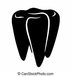 abstract tooth sign - abstract tooth as a sign for a dentist