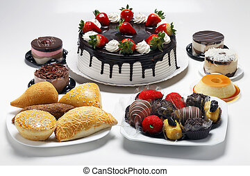 Birthday cake with sweet and savory
