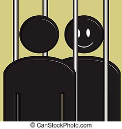 Prisoner Visit - An illustration of a prisoner being visited...
