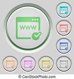Domain registration push buttons - Set of color Domain...