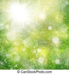 Season branches with fresh green leaves EPS 10 vector file...