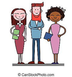 Business People Group Diverse Team Businesspeople Vector...