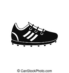Soccer shoes black simple icon