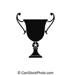 Trophy cup black simple icon