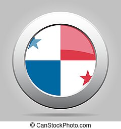 metal button with flag of Panama - metal button with the...