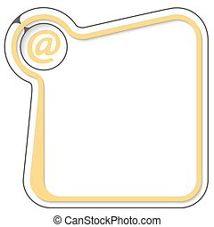 Yellow frame for your text and email symbol