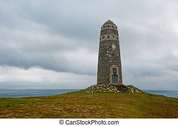 American Monument - The American Monument on the Mull of Oa,...