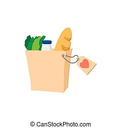Food donate cartoon icon