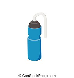 Sport water bottle cartoon icon