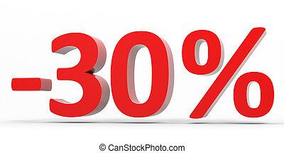 Discount 30 percent off sale 3D illustration