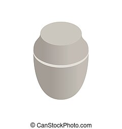 Urn for ashes isometric 3d icon on a white background