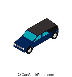 Hearse isometric 3d icon on a white background