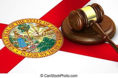 Florida State Law Legal System Concept - Florida US state...