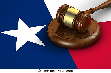Texas Law Legal System Concept - Texas us state law, code,...