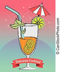Cocktail bar menu graphic design, vector illustration eps10