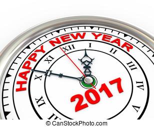 nouveau,  2017, horloge,  3D, année