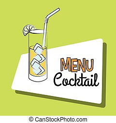 Cocktail bar menu