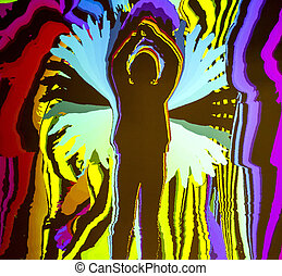 Silhouette of a standing man