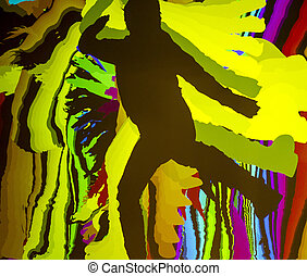dancing silhouette of a man
