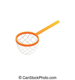 Fishing net isometric 3d icon on a white background