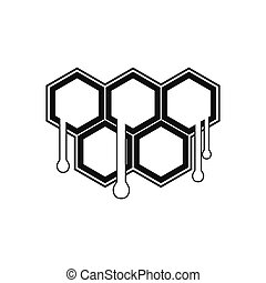 Honeycomb with drops black simple icon