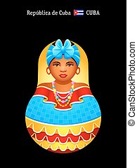 Matryoshka Cuba - Matryoshkas of the World: cheerful Cuban...